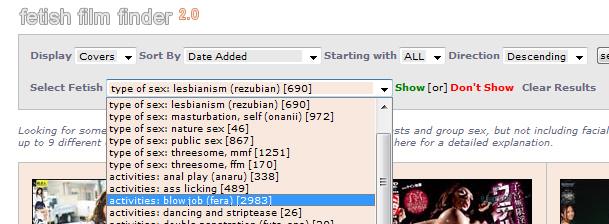 fetish film finder